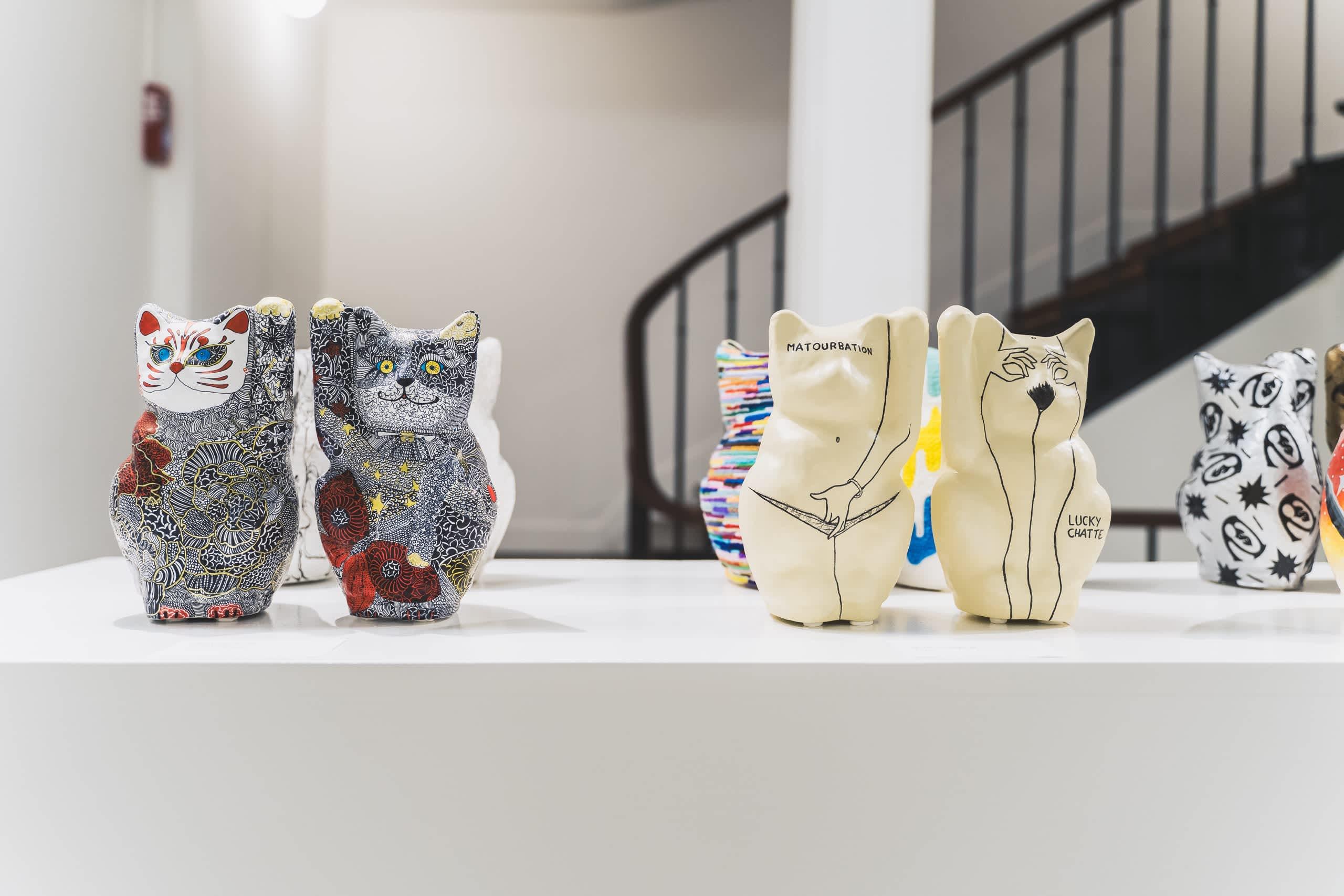 exposition a lucky cat art exhibition - Sato creative - Paris - artistes français-japonais- sid lee